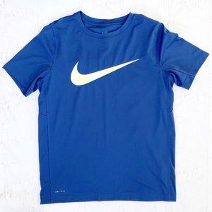Nike Blue Boys Dri Fit Tee Shirt Size XL